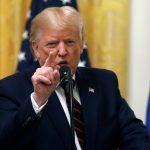 Trump en la conferencia de prensa este miércoles, 02 octubre del 2019, (AP)
