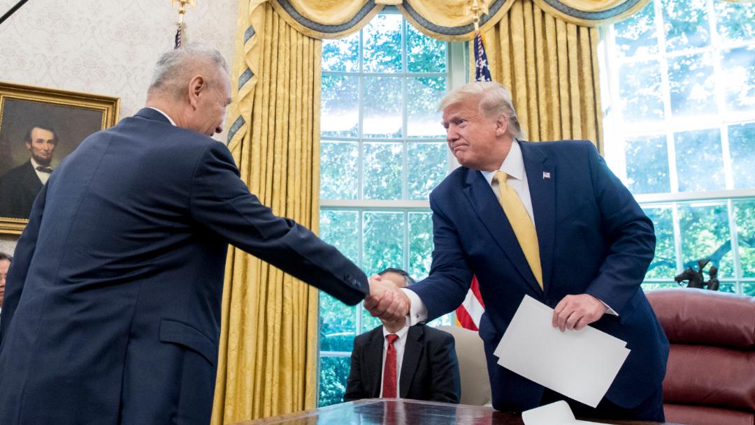 Foto: Autoridades de las potencias económicas alcanzaron un acuerdo, 11 de octubre de 2019, (AP)