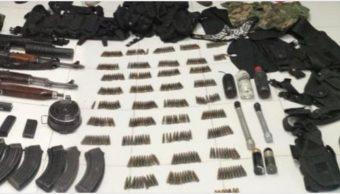Foto: Arrestan a 11 sujetos y decomisan armas en Sahuayo, 5 de octubre de 2019 (Noticieros Televisa)