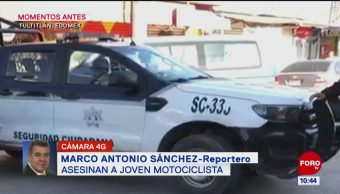 Asesinan a motociclista en el Edomex