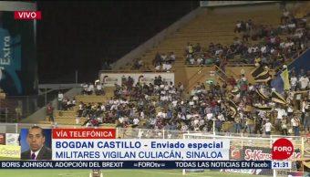 Foto: Dorados vs Necaxa Asistentes Piden Paz Balacera Culiacán 22 Octubre 2019