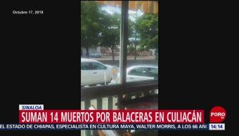 FOTO: Aumenta 14 número muertos balaceras Culiacán Sinaloa