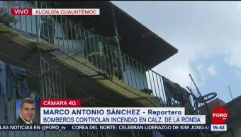 FOTO: Bomberos Controlan Incendio Casa Calzada La Ronda