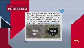 Foto: Borran Google Maps Aeropuerto Santa Lucía Noticias Falsas 17 Octubre 2019