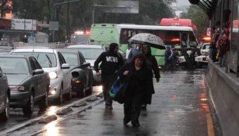 Foto Cae lluvia ligera en al menos diez alcaldías de la CDMX