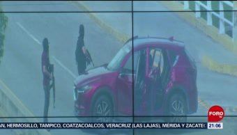 Foto: Cámaras C4 Captaron Video Bloqueos Culiacán Sinaloa 21 Octubre 2019