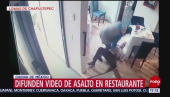 FOTO: Video Asalto Restaurante CDMX
