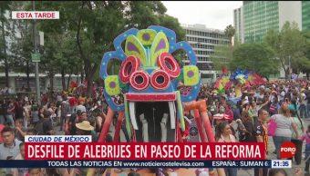 FOTO: Cientos de alebrijes desfilan en Paseo de la Reforma, 19 octubre 2019