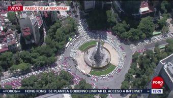 FOTO: Cientos Taxis Estacionados Alrededor El Ángel