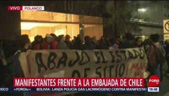 Foto: Comunidad Chilena México Pide Cese Violencia Embajada Hoy 21 Octubre 2019