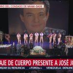 FOTO: Cuerpo José José recibe homenaje en auditorio de Miami, 6 octubre 2019