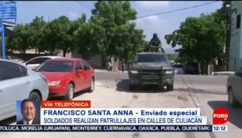 Culiacán está prácticamente blindada con patrullajes de soldados