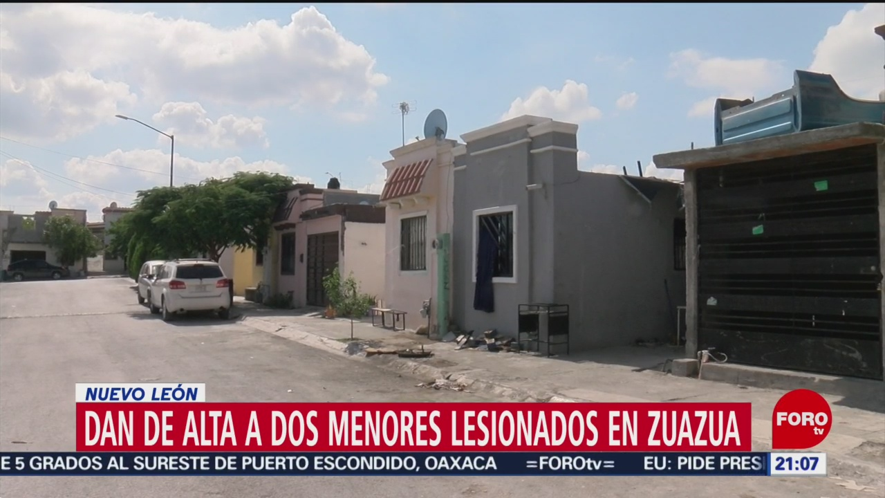 Foto: Dan Alta Dos Menores Lesionados Zuazua NL 10 Octubre 2019