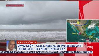 FOTO: Depresión Tropical Priscila Genera Lluvias Pacífico Mexicano