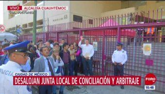 Desalojan la Junta Local de Conciliación y Arbitraje por artefacto sospechoso
