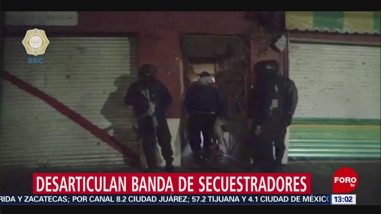 FOTO: Desarticulan banda de secuestradores en la Ciudad de México, 25 octubre 2019
