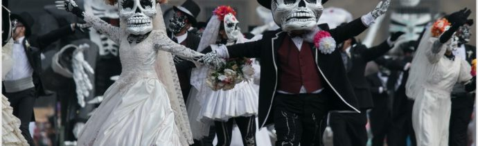 Fotos: Catrinas y catrines disfrazados de novios se apoderaron del Desfile Internacional del Día de Muertos, 27 de octubre de 2019 GALO CAÑAS /CUARTOSCURO.COM)