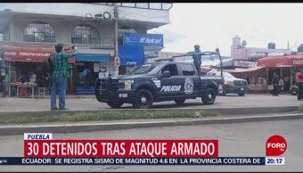 Foto: Puebla Ataque Armado Operativo Detienen 30 Personas 22 Octubre 2019