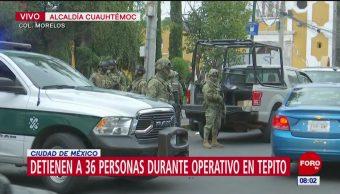 Detienen a 36 personas durante operativo en CDMX
