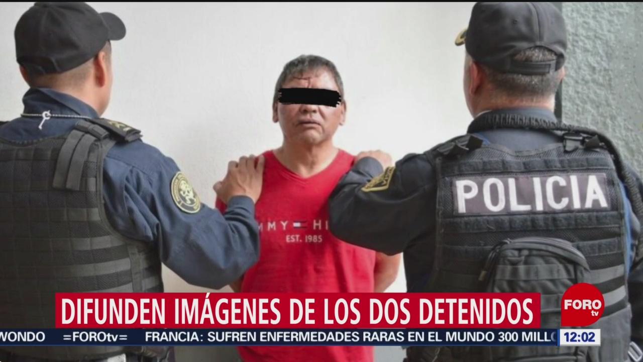 Difunden imágenes de dos presuntos secuestradores detenidos en Iztapalapa