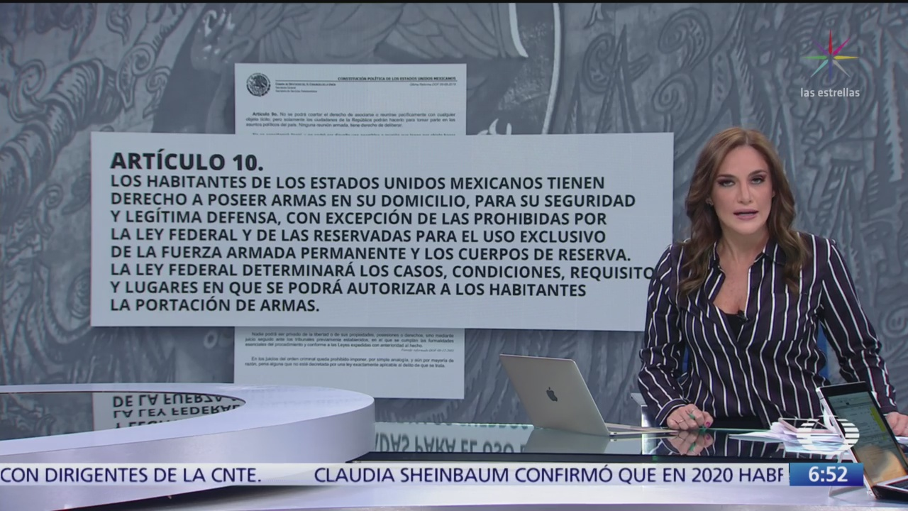 Diputado propone que cada hogar mexicano tenga un arma como defensa