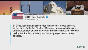 FOTO: EEUU Pide Ciudadanos No Viajar Sinaloa Por Violencia