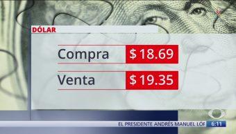 El dólar se vende en $19.35
