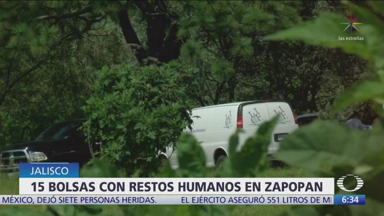 Encuentran 15 bolsas con restos en Zapopan, Jalisco