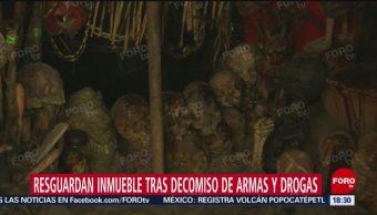 FOTO: Encuentran Narcotúneles Altares Con Cráneos Durante Operativo Tepito,