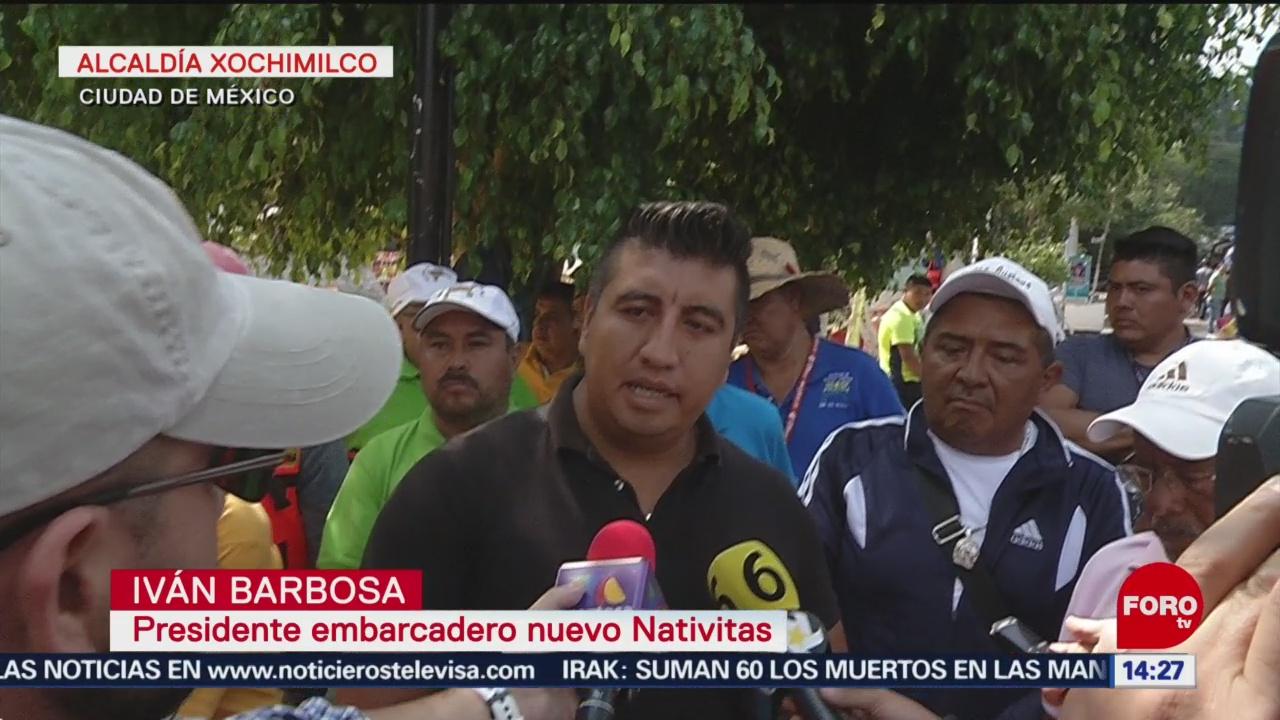 FOTO: Entregan chalecos salvavidas en embarcadero de Xochimilco, 6 octubre 2019