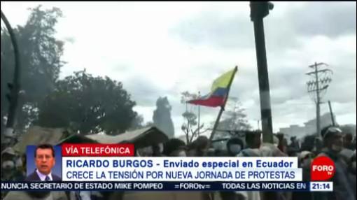 """FOTO: """"Es hora que Ecuador recupere la paz"""": Ecuatorianos, 12 octubre 2019"""