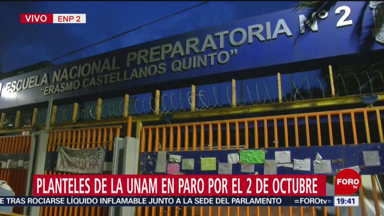 Foto: Escuelas Unam Paro 2 De Octubre 1 Octubre 2019