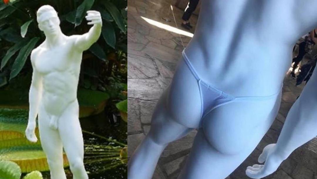 Foto: esculturas censuradas por unesco piden colocar ropa interior