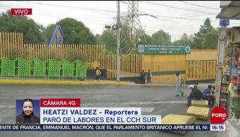 FOTO: Estudiantes Mantienen Paro Labores CCH Sur Por Presunta Violación