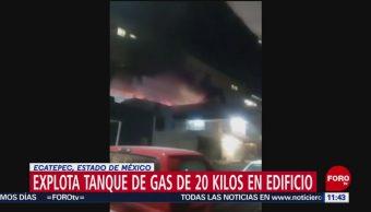Explota tanque de gas en Ciudad Azteca, Edomex