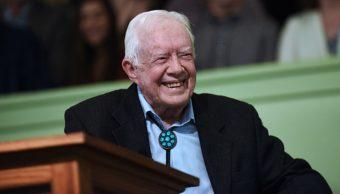 Imagen: Carter había sufrido una caída semanas atrás, que le dejó con 14 puntos de sutura y moretones en torno del ojo izquierdo, 22 de octubre de 2019 (Getty Images, archivo)