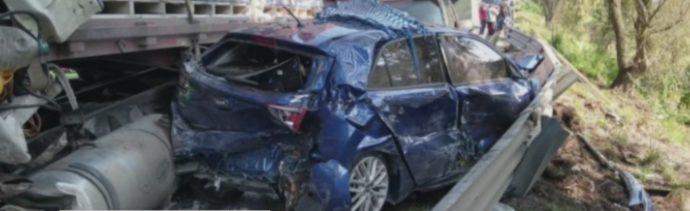 FOTO: Fallece una persona tras accidente en la autopista Atlacomulco-Toluca, 5 octubre 2019