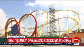 Foto: Falta Mantenimiento Provocó Accidente Feria Chapultepec 14 Octubre 2019