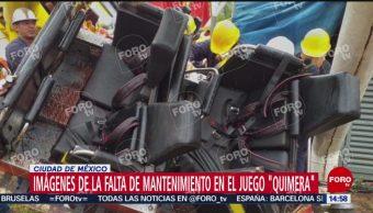 FOTO: imágenes falta mantenimiento juego La Feria de Chapultepec