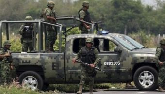 Foto: Atacan a militares de la Sedena. Twitter/@DiarioRotativo