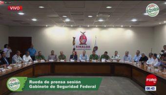 Gabinete de seguridad presenta informe sobre hechos en Sinaloa