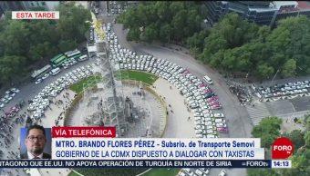 FOTO: Gobierno CDMX Está Dispuesto Dialogar Con Taxistas
