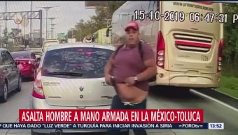 Video asalto carretera México-Toluca,