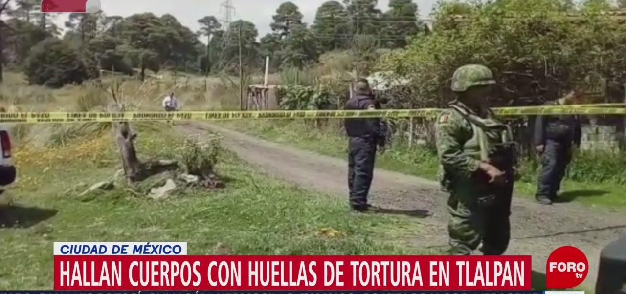 FOTO: Hallan dos cuerpos alcaldía Tlalpan CDMX