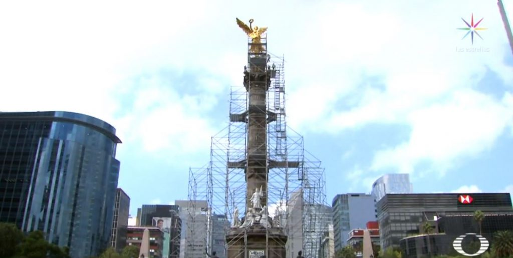 Foto Exclusiva Restauración del Ángel de la Independencia CDMX