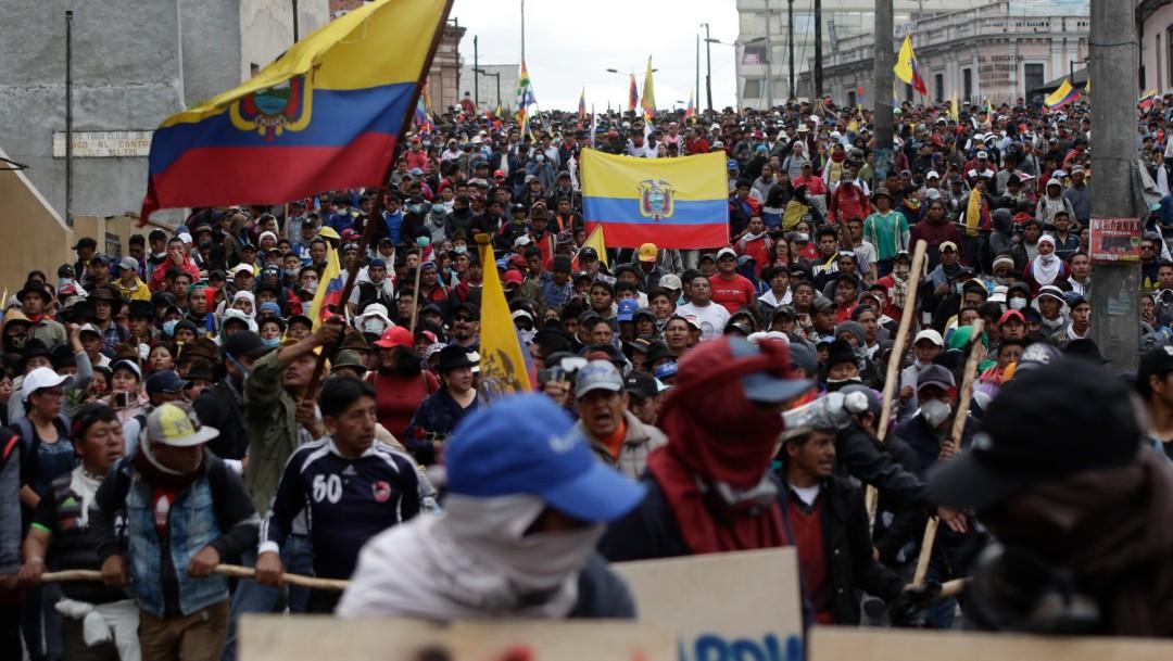 Foto: Indígenas protestan en Quito, 9 de octubre de 2019, Quito