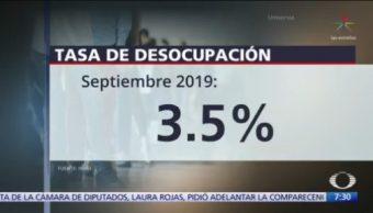INEGI: Tasa de desocupación se ubica en 3.5%, en septiembre