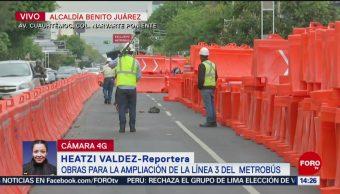 FOTO: Inician obras ampliación Línea 3 Metrobús