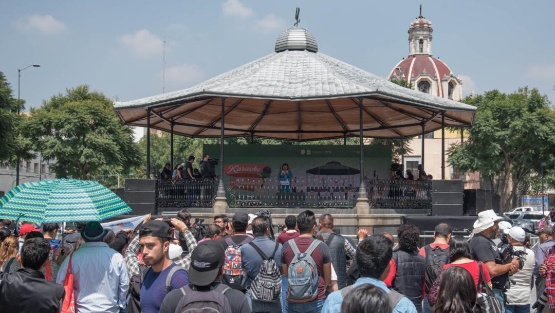 Foto: En punto de las 13 horas, el evento comenzó a un costado del Palacio de Bellas Artes, 04 de octubre de 2019 (MARIO JASSO /CUARTOSCURO.COM)