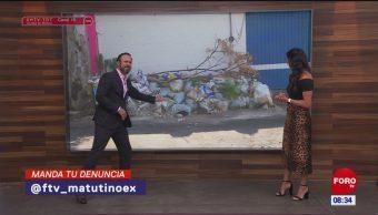#LaCámaraUrbana en Expreso: Montaña de costales con cascajo